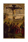 Christ's Crucifixion with St Francis of Assisi and St Jerome, Ca 1485 Giclee Print by Francesco Francia