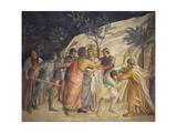 Jesus' Arrest and Judas' Kiss Reproduction procédé giclée par Giovanni Da Fiesole