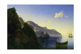 The Coast of Amalfi, 1841 Giclée-tryk af Ivan Konstantinovich Aivazovsky