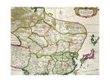 Map of Mongolia Showing Part of Russia, Japan and China, C.1680 Reproduction procédé giclée par Frederick de Wit