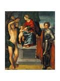 Madonna and Saints Giclée-tryk af Dosso Dossi