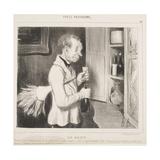 Le Goût Lámina giclée por Honore Daumier