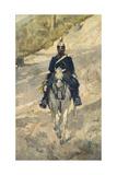 Soldier on Horseback, 1870 Lámina giclée por Giovanni Fattori