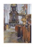 Interior of St. Michaelis in Hamburg, 1890 Giclee Print by Gotthardt Johann Kuehl