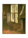 Woman at a Window, 1654 Lámina giclée por Jacobus Vrel or Frel