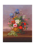 Still Life of Flowers in a Landscape, 1823 Giclee Print by Johann Knapp