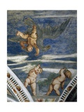 Rape of Ganymede and Putti, Mosaic Niches and Statues Giclee Print by Girolamo Romanino