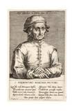 Hieronymous Bosch, Plate 3 from the Series Pictorum Aliquot Celebrium Germanaie Inferioris Effigies Giclee Print by Johan Wierix
