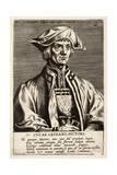Lucas Van Leyden, Plate 10 from the Series Pictorum Aliquot Celebrium Germanaie Inferioris Effigies Giclee Print by Johan Wierix