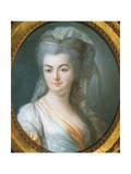 Portrait of Veiled Woman Giclée-Druck von Louis Michel Van Loo