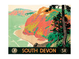 Seaton, Devon, 1930 Giclee Print by Kenneth Shoesmith