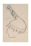 La Clownesse, Sketch of Jane Avril Lámina giclée por Henri de Toulouse-Lautrec
