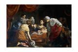 Birth of Virgin Giclée-Druck von Simon Vouet