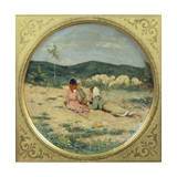Plate Painted with Figures of Shepherds Giclee Print by Niccolo Cannicci