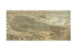Map of Venice in 1500 Giclee Print by Jacopo De Barbari