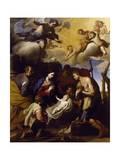 Adoration of Shepherds Giclée-tryk af Massimo Stanzione
