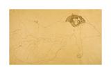 Recling Nude Giclée-Druck von Gustav Klimt