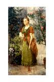 Emilie Floge, C.1892 Giclée-Druck von Gustav Klimt
