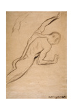 Study of a Male Figure Giclée-Druck von Gustav Klimt
