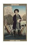 Fukuchi Gen'Ichiro, from the Series 'Instructive Models of Lofty Ambitions' Giclee Print by Kobayashi Kiyochika