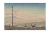 View of Mount Fuji from Hakone Mountains, Sketched at 3 A.M. in Early January, 1881 Giclee Print by Kobayashi Kiyochika