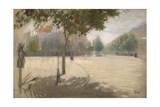 Sunny Square Giclee Print by Giuseppe De Nittis