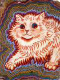 Kaleidoscope Cats III Reproduction procédé giclée par Louis Wain