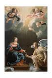 The Annunciation, 1632 Giclée-Druck von Simon Vouet