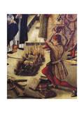 Burning of Heretics Books Giclée-tryk af Pedro Berruguete