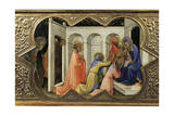 Adoration of Magi, Detail of Predella of Coronation of Virgin, 1414 Giclée-tryk af Lorenzo Monaco