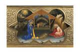 Depiction of Nativity, Detail of Predella of Coronation of Virgin, 1414 Giclée-tryk af Lorenzo Monaco