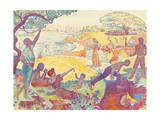 Au Temps D'Harmonie Giclee Print by Paul Signac