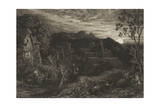 """The Bellman, from the Planned Series, """"The Shorter Poems of Milton"""", 1879, Published 1926 Giclee Print by Samuel Palmer"""