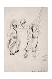 Enrolement Service Militaire, 1916 Giclee Print by Jules Pascin
