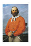Portrait of Giuseppe Garibaldi, 1807 - 1882, Italian Military General, Patriot and Politician Reproduction procédé giclée par Silvestro Lega