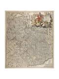 Map of Historical Region of Savoy Giclée-Druck von Nicolas Visscher