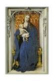 Madonnan och barnet Gicléetryck av Rogier van der Weyden