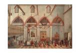 Apparition of Crucified of Mount Ararat in Sant'Antonio Di Castello Church Giclée-tryk af Vittore Carpaccio