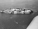 Distant View of Alcatraz Prison Photographic Print