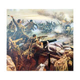 Princess Patricia's Canadian Light Infantry Repel a German Attack at St. Floi, Near Ypres Reproduction procédé giclée par William Barnes Wollen
