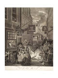 "Night, from the Series ""Four Times of Day"", 1738 Giclee Print by William Hogarth"