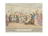 "The Public Breakfast, Plate 11 from the Series ""The Comforts of Bath"", 1798 Giclee Print by Thomas Rowlandson"