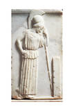 Greek Civilization, Bas-Relief Depicting Mourning Athena Standing in Front of Stele Stampa giclée