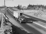 Truck Transporting Delivery to Safeway Photographic Print by Ray Krantz