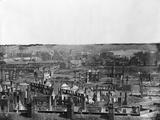 Wide Scenery of War Torn Buildings Fotografisk tryk af Alexander Gardner