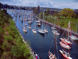 Sailboats in Opening Day Yacht Parade Photographic Print by Ray Krantz