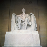 Statue of the Lincoln Memorial Photographic Print