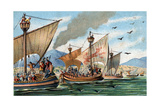 Illustration of the Reconquest of Sicily from Arab Rulers Reproduction procédé giclée par Stefano Bianchetti