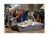 The Resurrection of the Son of the Widow of Nain 19Th-Century Print Reproduction procédé giclée par Stefano Bianchetti