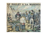Illustration of French Soldiers Cooking Marengo Chicken Reproduction procédé giclée par Stefano Bianchetti